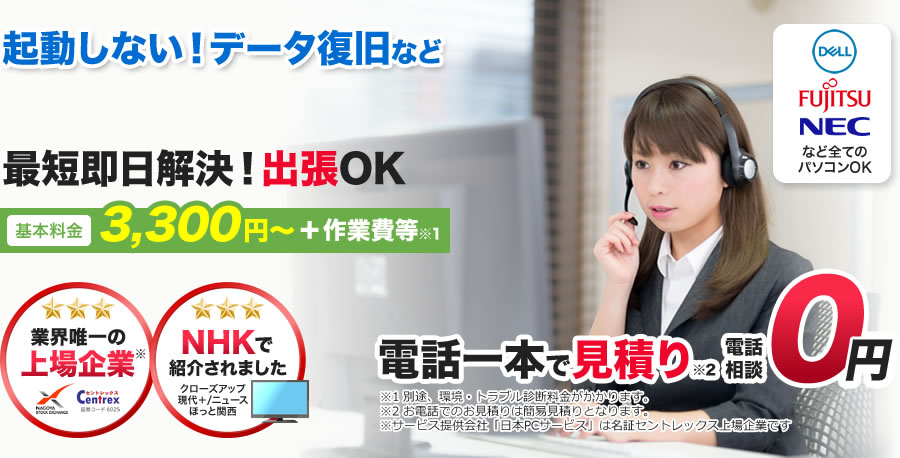 大阪市なら即日対応、その場で修理可能!