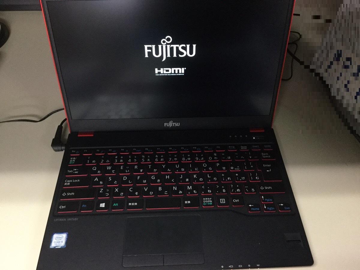 神奈川県鎌倉市 ノートパソコンの画面が表示されない/富士通 Windows 10のイメージ