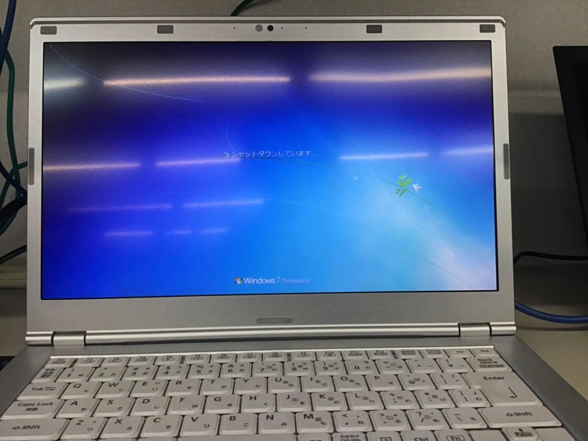 千葉県市川市 ノートパソコンの液晶関連トラブル/パナソニック Windows 7のイメージ