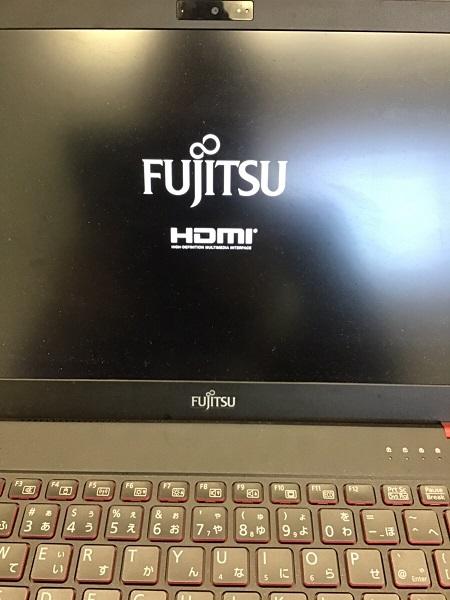 埼玉県さいたま市浦和区 ノートパソコンの画面が表示されない/富士通 Windows 10のイメージ